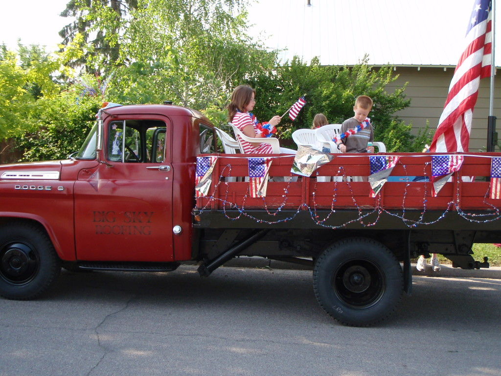 Big Sky Roofing Parade Truck